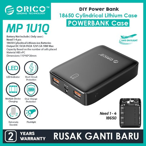 ORICO DIY Powerbank Case / Module QC 3.0 18 watt - MP-1U1Q