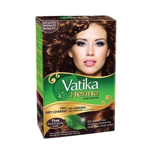 VATIKA Henna Colour Dark Brown 10 Gram X 6 PC