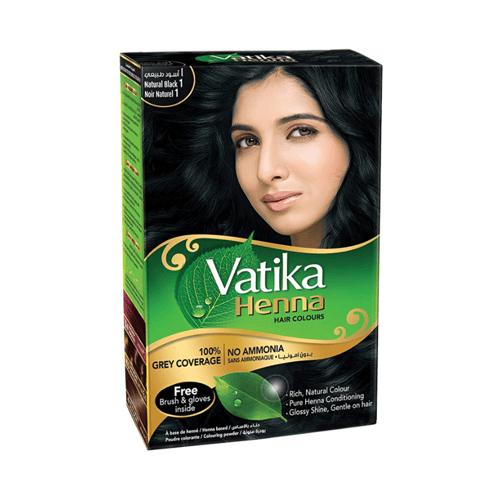 VATIKA Henna Colour Natural Black 10 Gram X 6 PC