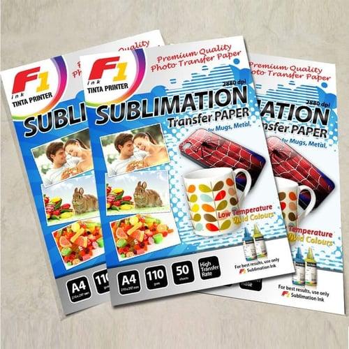 Kertas Sublim / Sublimation Paper for Mug ukuran A4 isi 50 Lembar