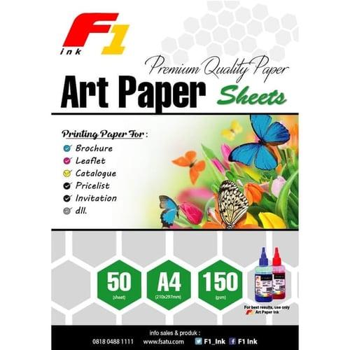 Kertas Art Paper Ukuran A4 50 Lembar 150gsm