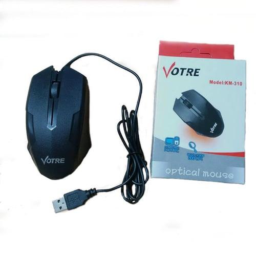 Votre KM-310 wired optical mouse 310 usb Original km310 - Hitam