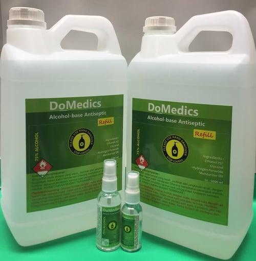 Hand Sanitizer DoMedics 5 Liter Jenis Cair Refill,  Alcohol 75 Persen  - Lavender Fragrance