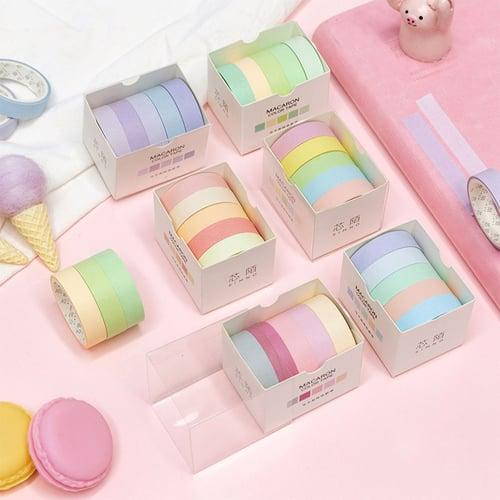 Masking Tape Set 5pc Pastel Macaron / Selotip Unik / Selotip Lucu