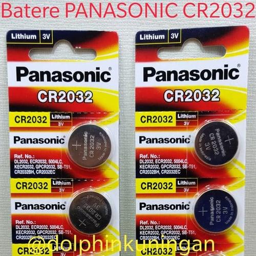 Battery PANASONIC Button Cell CR2032 Batere Baterai