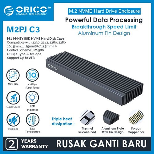 ORICO M2PJ-C3 NVME M.2 SSD Enclosure