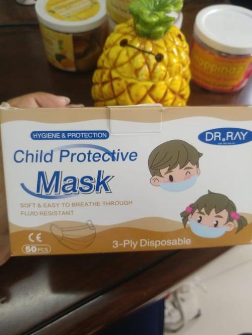 Masker medis pelindung anak 3 plylembut - ada KEMENKES nya isi 50 pcs