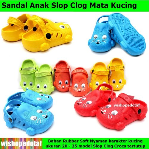 Sandal Slop Mata Kucing Clog