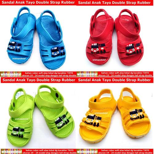 Sandal Tayo Anak Double Strap Tayo Rubber