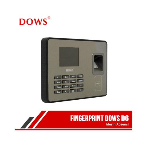 DOWS D6 Mesin Absensi Fingerprint Kartu ID Access Control Akses Kontrol Pintu ID Card RFID