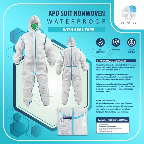 BAJU APD Suit Nonwoven Waterproof With Seal Tape
