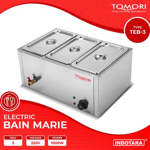 Penghangat Makanan Food Warmer Bain Marie 3 Tray Tomori - TEB-3