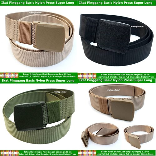 Ikat pinggang Clip Press Nylon Basic