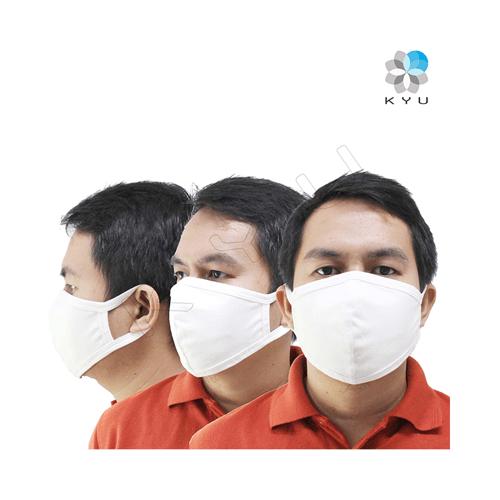 Masker Kyu Color Pack 3 Pcs - Premium - Putih