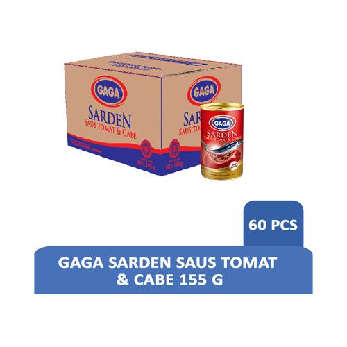 GAGA Sarden Saus Tomat & Cabe 155Gr