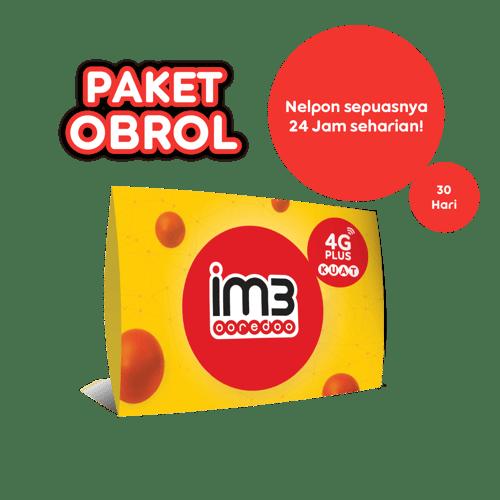 KARTU PERDANA OBROL SEPUASNYA KE SESAMA/ 30 HARI