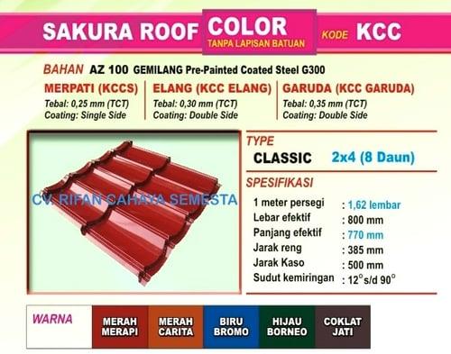 Genteng Metal Sakura Roof - Sakura Garuda ( 0,35 mm )