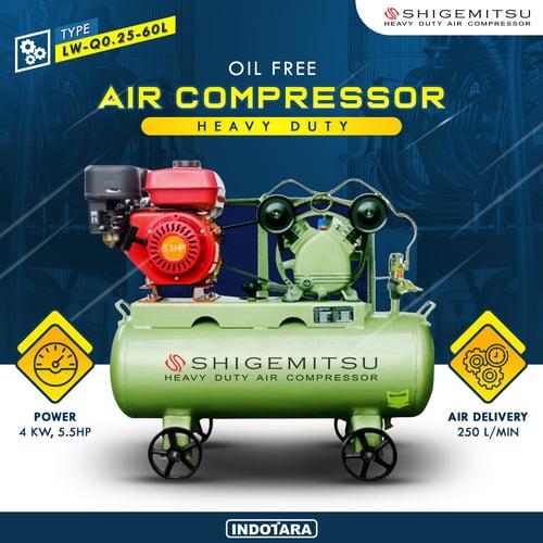 Kompresor Engine Gasoline 5.5HP / Kompresor Bensin LW-Q0.25-60L