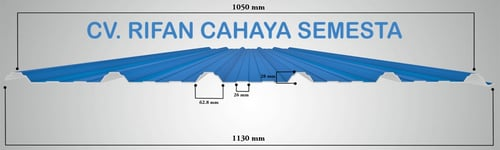 Atap UPVC DR.Shield - 7 Meter (Single Layer) Lebar Efektif 1050 mm