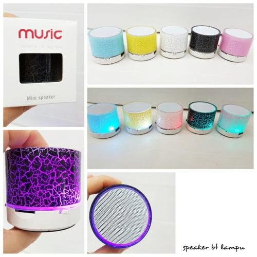 Mini Portable Speaker Bluetooth LED Lampu AUX, MP3 , Bass, Stereo, Radio