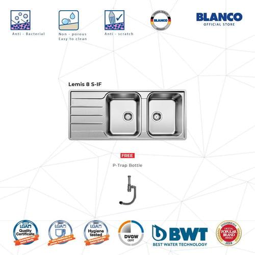 BLANCO Lemis 8S-IF Kitchen Sink - Bak Cuci Piring Stainless Steel