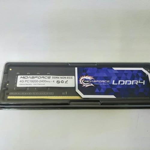 Ram Midasforce 4GB DDR4 PC19200 2400Mhz - Longdimm Memory LDDR4