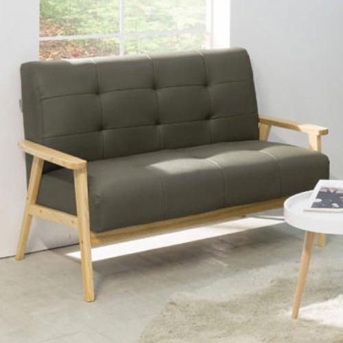 Ebonia - Sofa Top Oak 2 Dudukan - Abu-abu