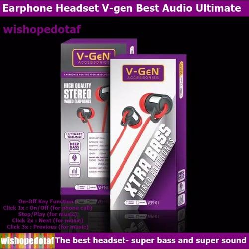 Headset V Best Audio Ultimate Stereo