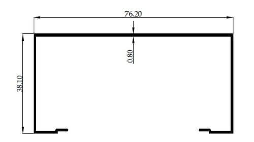 OPENBACK POLOS 3 inch 0.8MM - MF