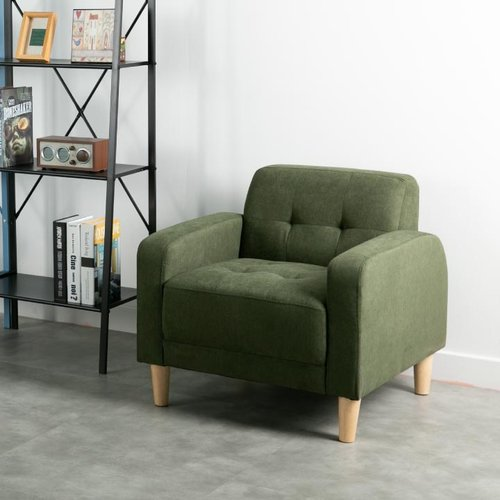 Ebonia - Sofa MDRN 1 Dudukan - Fabric - Hijau