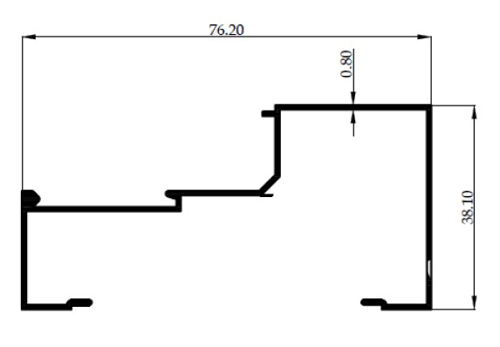 Z/L POLOS 3 inch 0,80mm - COLOR- Brown Anodize / Black Anodize