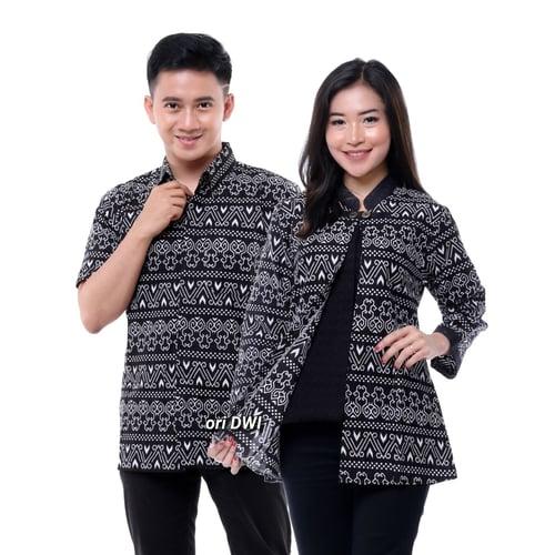 Baju Batik Couple - Sarimbit Batik - Baju Pesta - Baju Kondangan Lita Daun