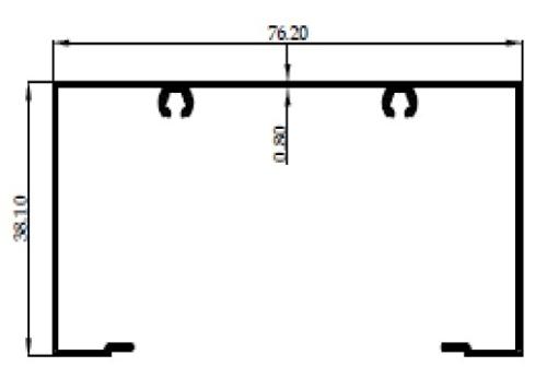 OPENBACK SKRUP 3 inch 0,80mm - CA