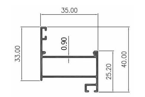 DAUN CASEMENT 0.90mm - PC- Artic White, Brown, Black Matte
