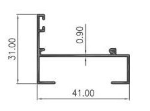 STOPER CASEMENT KAKI 0.90mm - COLOR- Brown Anodize / Black Anodize