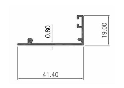 STOPER CASEMENT RATA 0.80mm - PC- Artic White, Brown, Black Matte