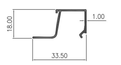 GLASS BEAD CASEMENT 1mm - COLOR- Brown Anodize / Black Anodize