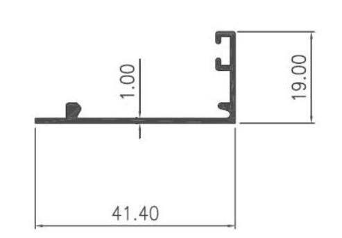 STOPER CASEMENT RATA 1mm - CA