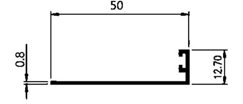 STOPPER 5 CM 0,80mm - COLOR- Brown Anodize / Black Anodize