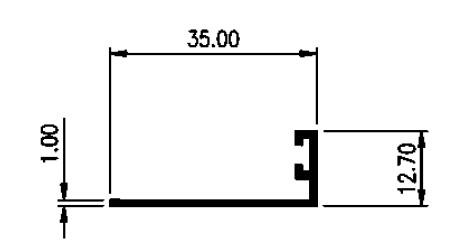 STOPPER 3,5 CM 1mm - COLOR- Brown Anodize / Black Anodize
