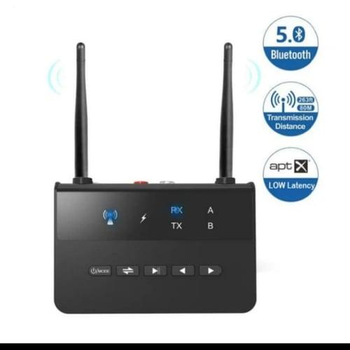 Adapter Bluetooth 5.0 Audio Transmitter Receiver RX Bypass Aptx