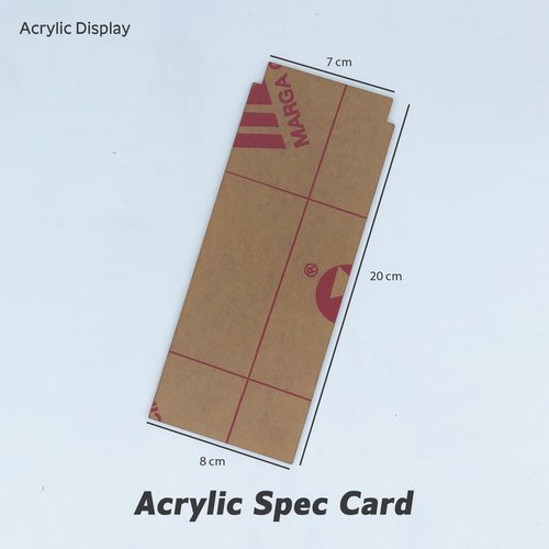 Acrylic Spec Card (8x20)