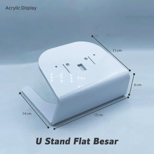 Acrylic Display - U Stand Flat Besar