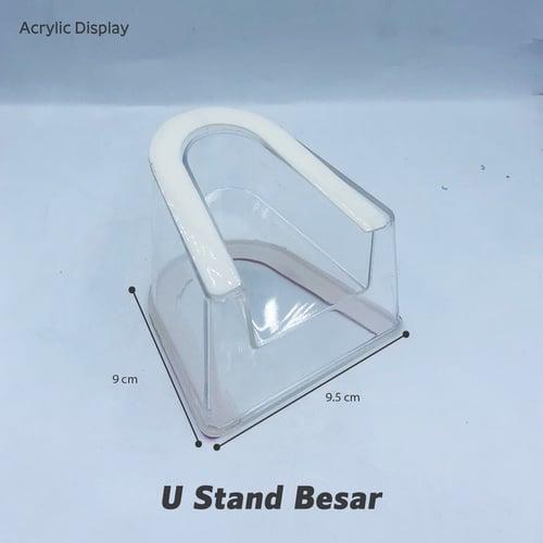 Display Acrylic - U Stand Besar