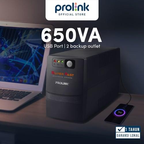 UPS PROLINK PRO700SFCU Super Fast Charging Line Interactive 650VA