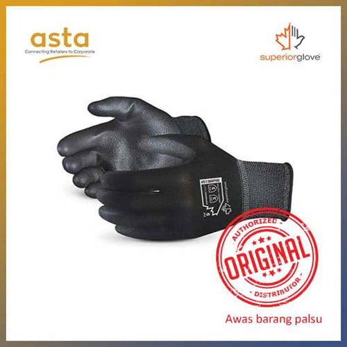 Sarung Tangan Superior Touch Economy 13 Gauge Nylon Gloves with Polyurethane Palm Coating Superior Glove S13BKPUQ