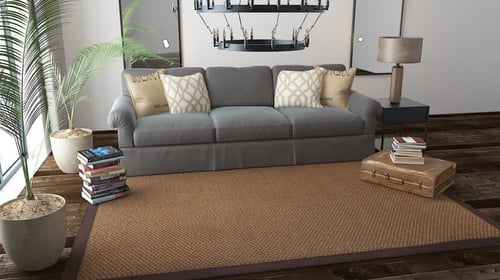 Karpet Sisal Ori Brown Anyaman Ukuran Bisa Custom Harga Reseller