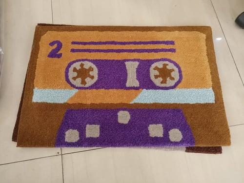 Keset kaki Handtuft doormat - Casette Random Unik dan Lucu 40x60 cm
