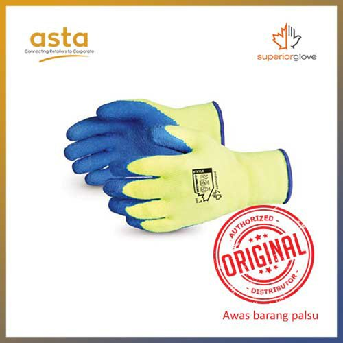 Sarung Tangan Dexterity Fleece Lined Nylon Gloves with Latex Palm Superior Glove TKYLX