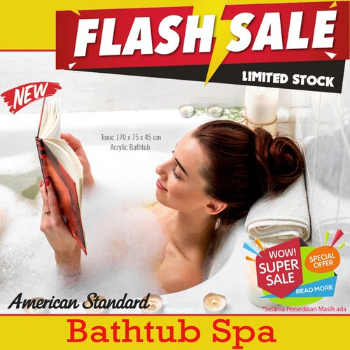 Flash Sale Bathtub Spa American Standard Tonic 170 cm Acrylic